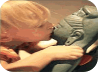 Kissing Budha